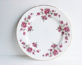 Vintage Pink Floral Plate, wall plate, collectible plate, Royal Grafton Bone China