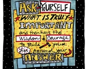 Note Card - Ask Yourself