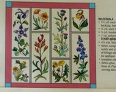 reserved for Stacy Destinctive Designs Susan R DuLaney  Mini Wildflowers  Applique Pattern