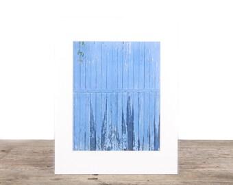 Original Fine Art Photography / Unique Photography / Blue Wood Door Decor / Signed Photography / Photography Prints / Color Photography
