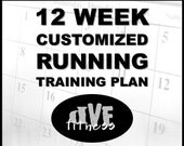 Customized 12 week running training plan - training program for races, base miles, PRs, etc