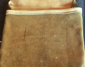 VINTAGE TOOLBELT LEATHER, pouch, u s a made, belt bag, fanny pack