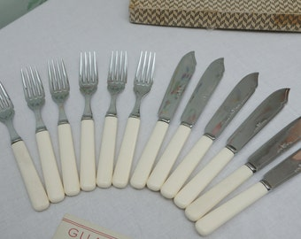 Chromium Plated Fish Knives and Forks