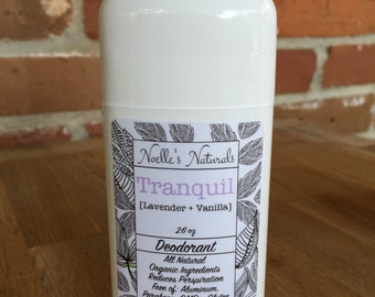 Natural Deodorant - Lavender + Vanilla - Aluminum Free - non-GMO - No Parabens - Non-toxic - Organic Ingredients - Actually Works!