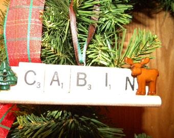 Cabin Scrabble Ornament 7346