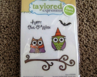 Owl Halloween Stamps and Matching Dies - Taylored Expressions