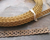 "Braided Pattern Brass Banding Gallery Raw or Oxidized Footage 1/2"" Width (1 foot)"
