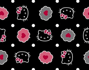 Hello Kitty Bubble Toss on Black From Spring Creative
