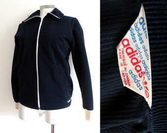 70s Adidas Corduroy Navy Blue Jacket Retro - S M