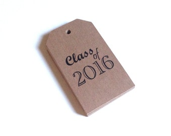Graduation Party Favor Tags Customized with your Name and Year -  50