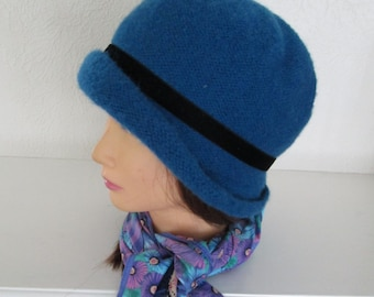 Knitting Pattern PDF Downton Abbey Hat Lady Rose Felted 1920s Cloche Flapper
