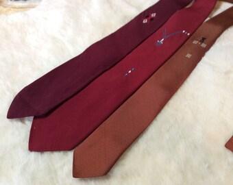 DAPPER DANDY! lot of THREE vintage ties
