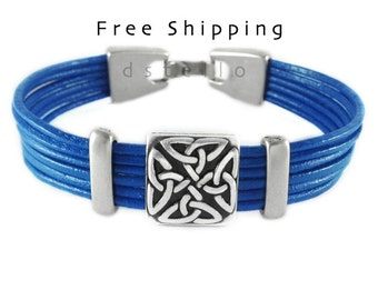 Scottish bracelet, Irish bracelet, Celtic bracelet, Irish jewelry, St. Patrick's day, Irish heritage, Custom made, Antique silver color