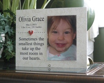 Birth Frame, Baby Announcement Frame, Birth Stats Frame, Birth Gift, Baby Announcement Gift, Birth Stats Gift,  4x6 photo, Heart & Crystal