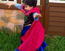 Anna Dress - 12 month baby to 8 years - Made to Order - Custom Ana Costume - Anna Dress, Frozen Dress, Princess Dress, Frozen Birthday Dress