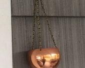Beautiful Vintage Copper Hanging Pot Planter
