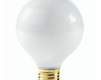 Frosted Globe Light Bulb (G40)