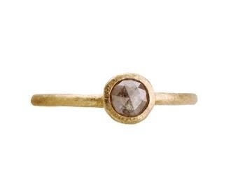 Grey diamond engagement ring. 18k. Denmark