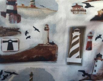 Lighthouse Fleece Fabric by the Yard