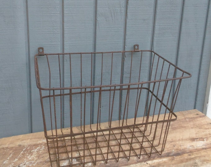 Vintage Wall Basket - Industrial Basket