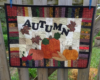 Autumn Wall Quilt, Autumn Quilt, Fall Quilt 0609-01