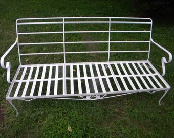 Great Shape Vintage 1960s 1970s Outdoor Patio SALTERINI WOODARD Sofa Settee  Couch Bench Pick Up Only