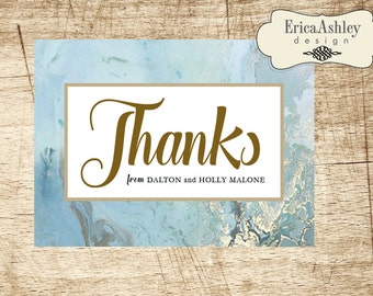 Marbled Thank You Notes - 4 X 6  (Digital File Available)