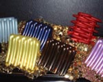 Hair Combs - 2 Piece Set - Assorted Colors Available