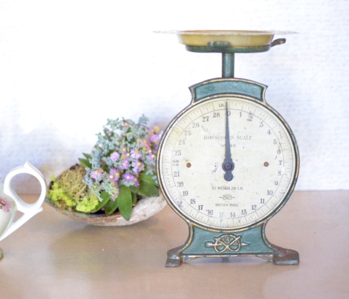 Farmhouse Kitchen Scale Salter Shabby Industrial Green Scale