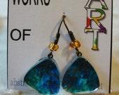 Miniature Art Tree   Drop Earrings