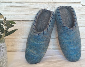 Felt wool slippers, with latex soles, for woman and man, ready to ship