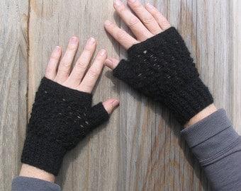 Knit Pattern - Lacy Fingerless Gloves