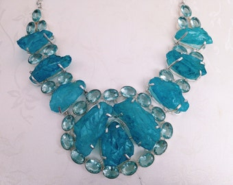 Quartz & Blue Topaz Necklace