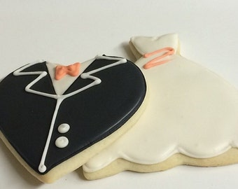 Wedding Bridal Gifts Sugar Cookies Iced Decorated Favors