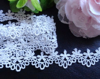 7/8 inch wide white lace/trim selling by the yard
