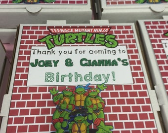 Ninja Turtle Pizza Box Party Favor Covers