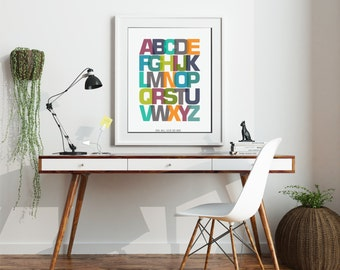 Alphabet Print- ABC Print