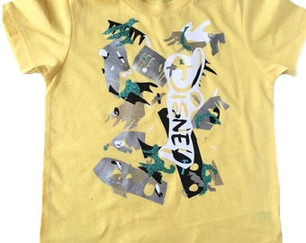 SALE 3t The Picasso Shirt | yellow | unique | one of a kind | kids style | Kids Shirt | Toddler shirts | Eclectic