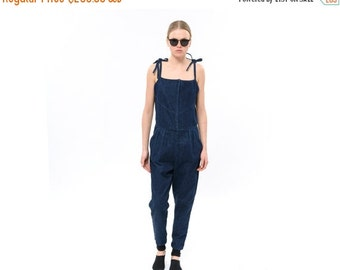 SALE 30% OFF Long Ladies One Piece Pantsuit, Trendy Womens Jeans Jumpsuit, Chic  jeans Romper, jeans overall, Denim, Jeans