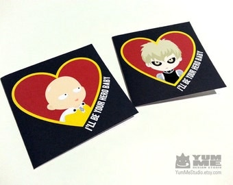 One Punch Man Valentines Card