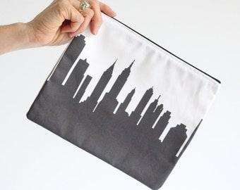New York City Clutch Purse - 8x10 - Skyline Silhouette
