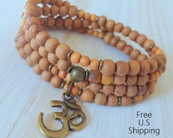The basic Mala, Sandalwood 108 mala, Buddhist Rosary, Prayer beads,  Reiki charged, Aromatic sandalwood, buddhist mala, 108 bracelet, mala