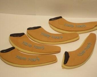 Rosh Hashana Shofar Cookies - Kosher - Handmade - 1 Dozen