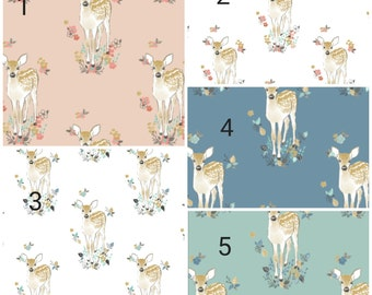 Baby Carseat Canopy - Fawn Carseat Canopy, Tent, Cover, Deer, Flowers, Leaves