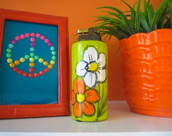 Vintage 1960s Mid Century Italian Pottery Flower Power Rosenthal Netter Raymor Table Lighter
