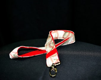 Baseball lanyard, teacher lanyard, workplace ID holder, coach, red and white, sports
