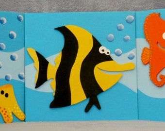 Friendly Ocean Characters Wall Hanging Decoration