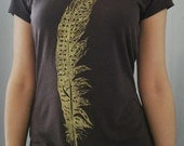 Womens Bamboo and organic Cotton feather tee / valentines day gift for her