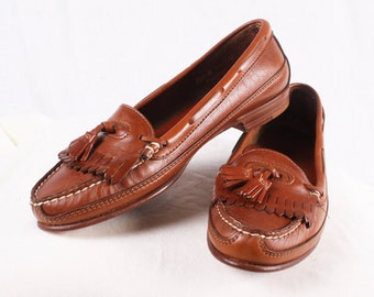 Women's Brown Leather Loafers by Dexter 9 1/2