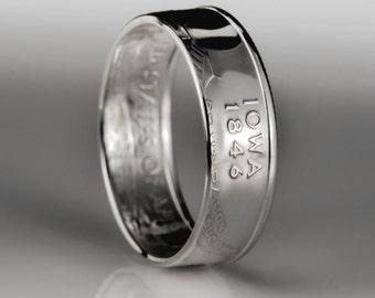 Iowa Quarter Ring - SILVER (.900)